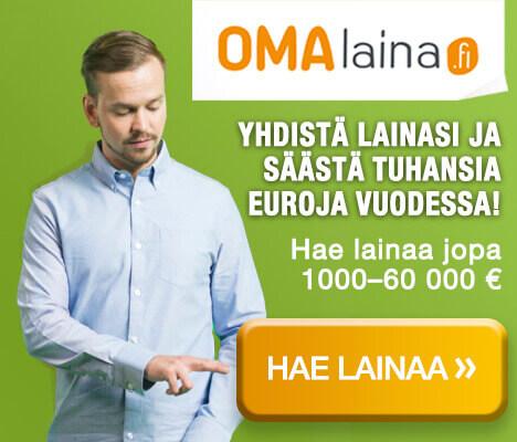 Omalaina lainojen yhdistäminen 60000 euroa